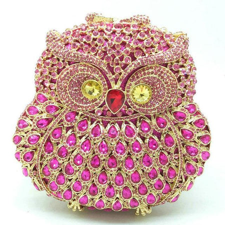 Owl Diamond Evening Crystals Bag With Hollow Eyes - GiftWorldStyle - Luxury Jewelry and Accessories