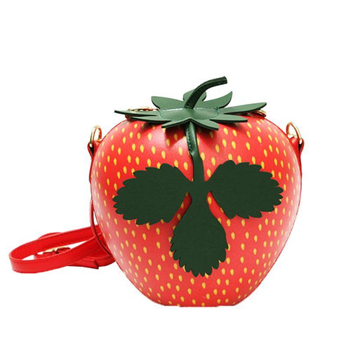 Plastic Strawberry Casual Women's Handbag Shoulder Bag Cute Purse Crossbody