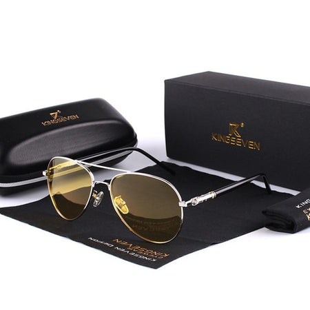Polarized Night Driving Sunglasses Designer Yellow Lens Night Vision Driving Glasses Goggles Reduce Glare - GiftWorldStyle - Luxury Jewelry and Accessories
