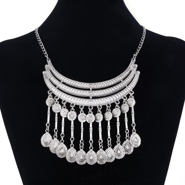Power Collar Choker Necklace Vintage Gypsy Ethnic Statement Necklace Women Jewelry