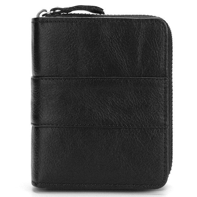 Men's Stitched Vintage Genuine Leather Wallet - GiftWorldStyle - Luxury Jewelry and Accessories