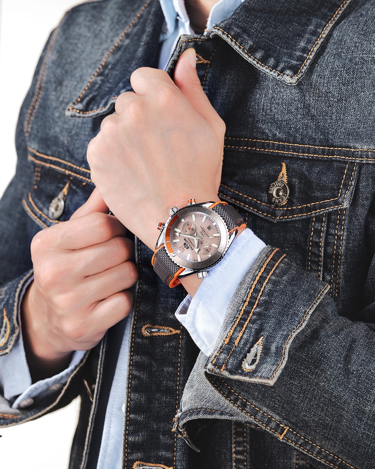 Mechanical Watch For Men With Self Wind And Rubber Strap, Luminous - GiftWorldStyle - Luxury Jewelry and Accessories