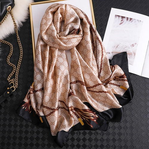 Soft Beach Silk Scarves For Women With Colorful Print - GiftWorldStyle - Luxury Jewelry and Accessories