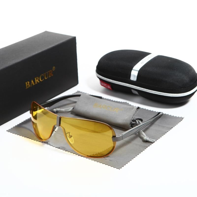 Rimless Men Sunglasses With Yellow Lens And Anti-Reflective Mirror - GiftWorldStyle - Luxury Jewelry and Accessories