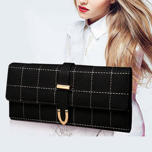 Leather Wallet For Women With Phone Bag Purse,Clutch And Plaid