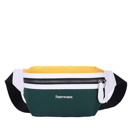 Colorful Waist Bag With Big Zipper, Letter Bum Bag - GiftWorldStyle - Luxury Jewelry and Accessories