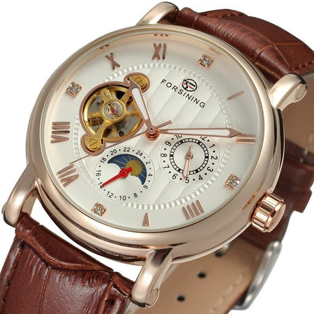 Automatic Watch With Mechanical Wristwatches, Moon Phase And Water Resistant - GiftWorldStyle - Luxury Jewelry and Accessories