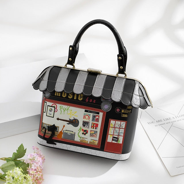 Women's Handbag In Retro Bolsa Style, Musician