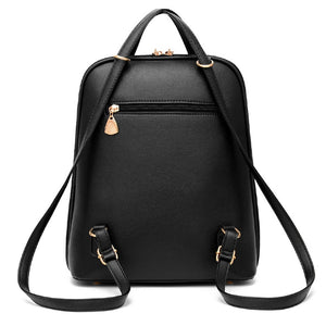 Women's Fashion Leather Backpack