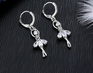 Cute Ballet Dancer Necklace And Earrings - GiftWorldStyle - Luxury Jewelry and Accessories