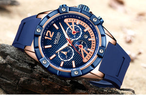 Silicone Waterproof Watch For Men With Luminous Hands - GiftWorldStyle - Luxury Jewelry and Accessories