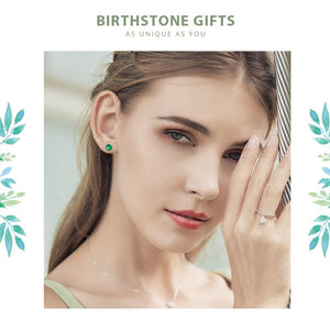 April Birthstone Droplets Rock Crystal Stud Earrings - 925 Sterling Silver - GiftWorldStyle - Luxury Jewelry and Accessories