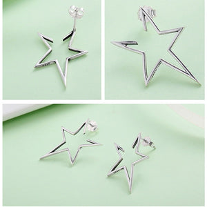 Exquisite Star Stud Earrings - 925 Sterling Silver