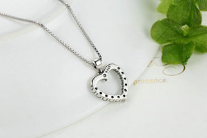 Authentic 925 Sterling Silver Female Heart Pendant Necklace Necklace Accessories