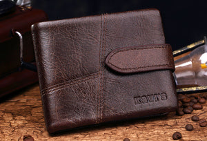 Long Lady Leather Wallet with Clamp for Money - GiftWorldStyle - Luxury Jewelry and Accessories
