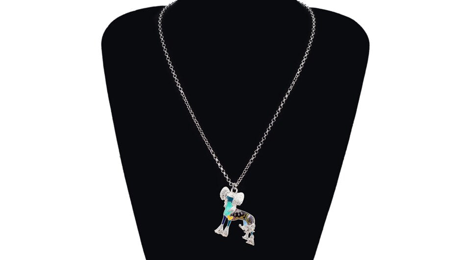Chinese Crested Dog Necklace With Chain - GiftWorldStyle - Luxury Jewelry and Accessories