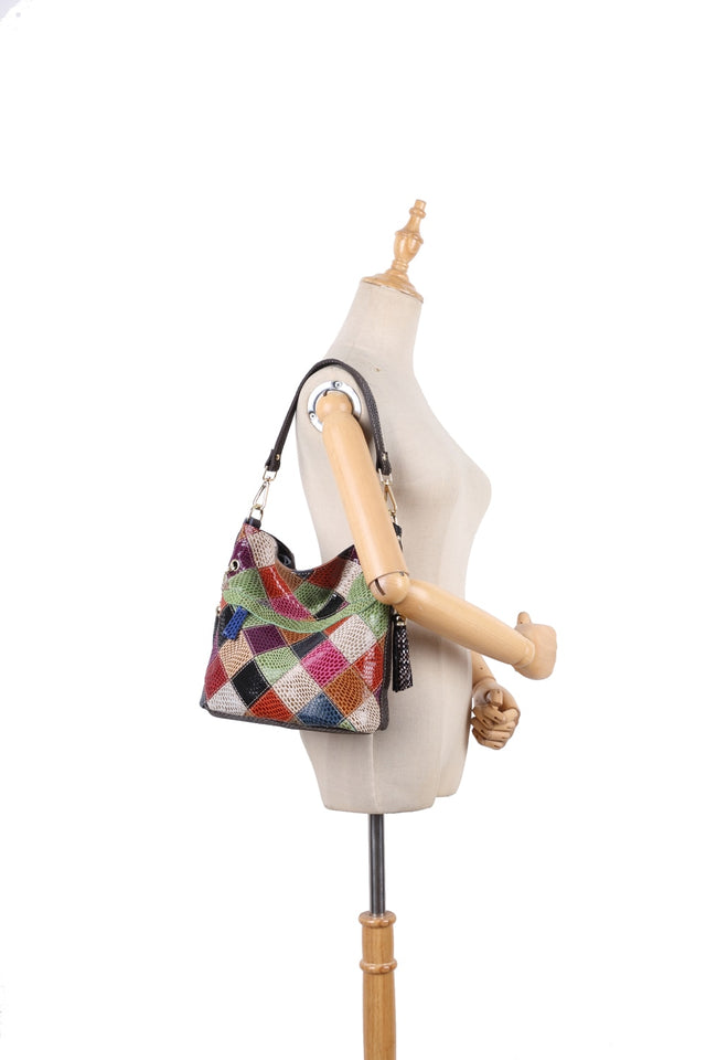 100% Genuine Leather Handbags In Colorful Color,Handmade - GiftWorldStyle - Luxury Jewelry and Accessories