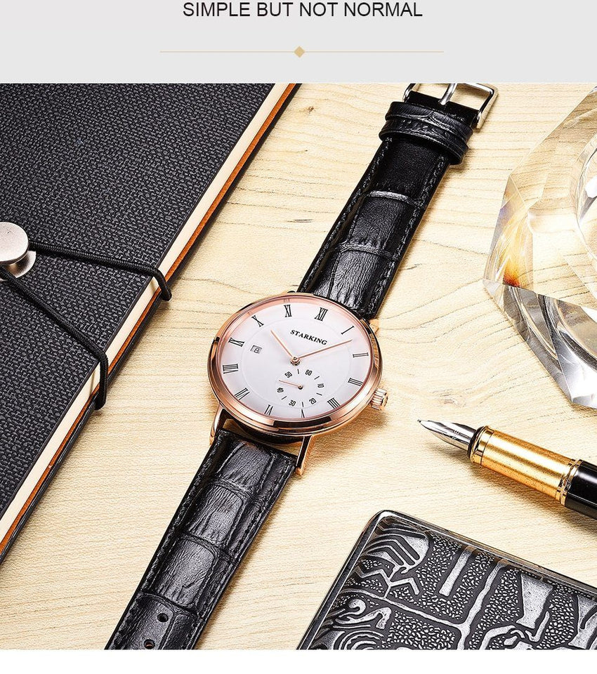 Automatic Waterproof Watch With Self Winding, Sapphire Crystal And Auto Date - GiftWorldStyle - Luxury Jewelry and Accessories