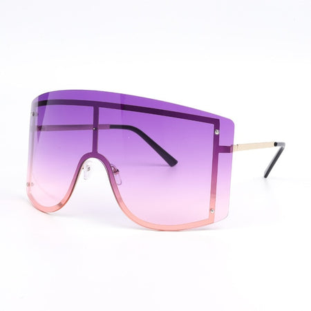Gradient Sunglasses Women Rimless Sun Glasses Metal Female Shades Eyewear
