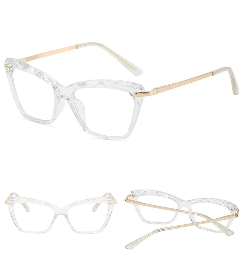 Vintage Transparent Cat Eye UV400 Glasses