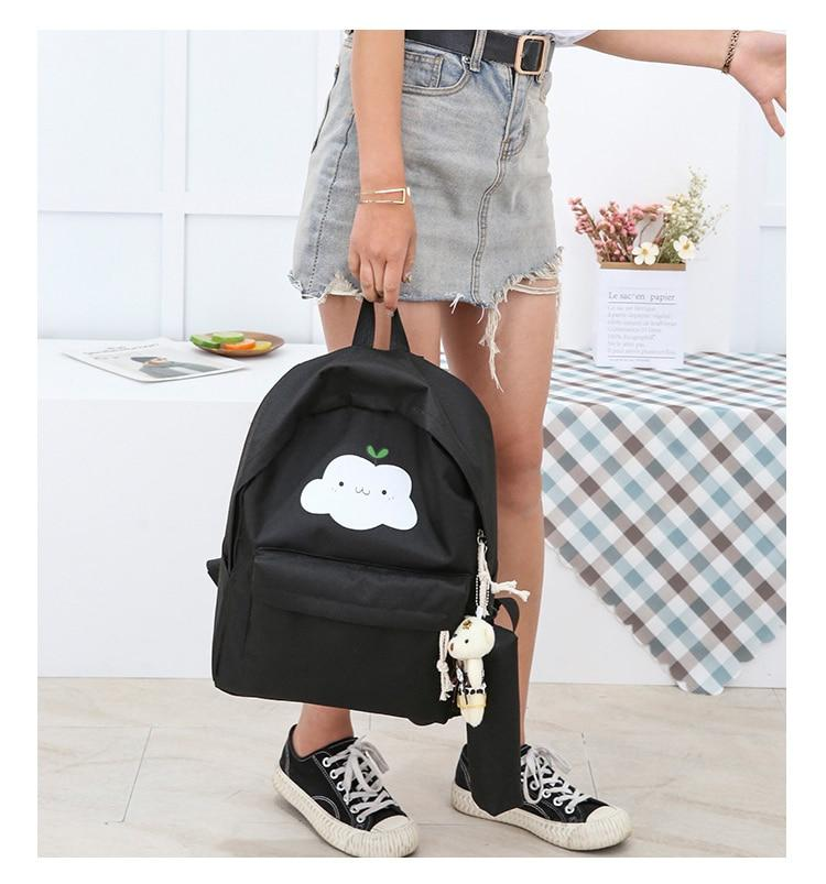 5 Pcs School Bags Set With Orthopedics Strap And Clouds - GiftWorldStyle - Luxury Jewelry and Accessories