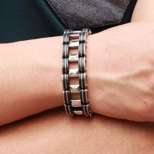 Stainless Steel Biker Bracelet - GiftWorldStyle - Luxury Jewelry and Accessories