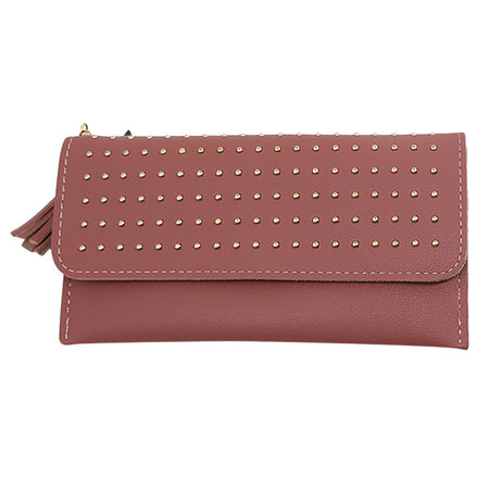 Women's Wallet With Coin Purse And Interior Slot Pocket,Eyelets