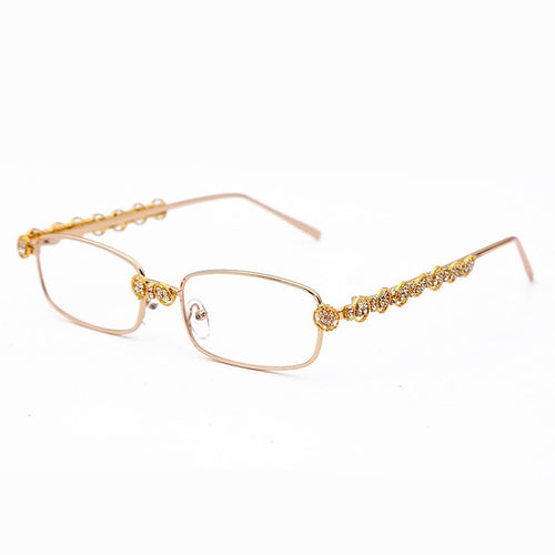 Rectangle Rhinestone UV400 Eyeglasses - GiftWorldStyle - Luxury Jewelry and Accessories