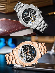 Automatic Mechanical Watches with Big Dial - Auto Date - GiftWorldStyle - Luxury Jewelry and Accessories