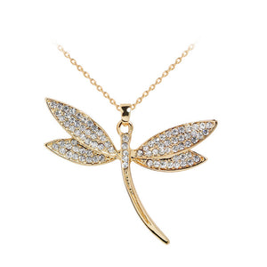 Elegant Dragonfly Necklace Jewelry from Europe America