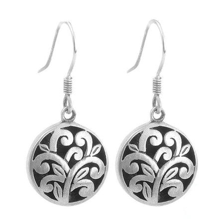 Hollow Flower Earrings - 925 Sterling Silver - GiftWorldStyle - Luxury Jewelry and Accessories