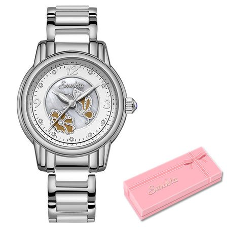Women's Butterfly Stainless Steel Watch