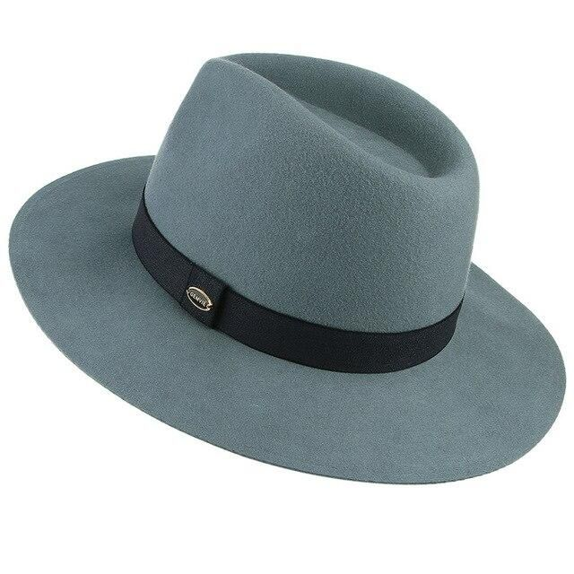 100% Wool Soft Floppy Brim Fedora Hat