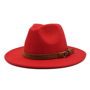 Wide Brim Autumn Female Fedoras Top Hat Wool Jazz Cap Winter Fedora Hat Wool Hat Chapeau Black