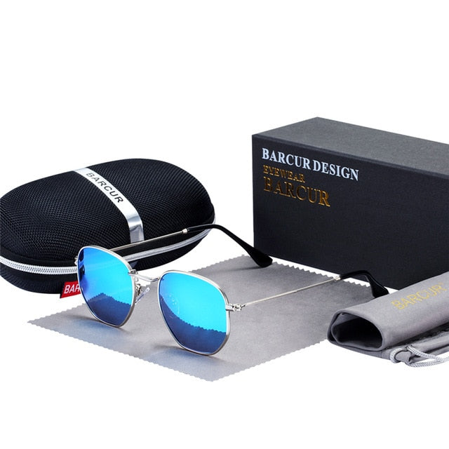 Classic Retro Reflective Sunglasses With Stainlesss Steel Frame - GiftWorldStyle - Luxury Jewelry and Accessories