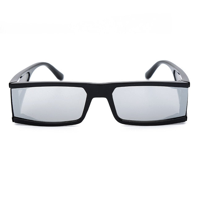 Rectangle Small Frame Sunglasses - Mirror