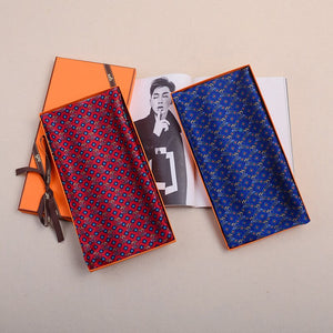 Winter Scarves 100% Silk Men's Silk Scarf Long Business Plaid Print Men's Accessories Holiday