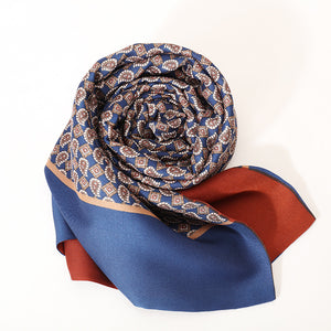 Winter 100% Silk Men Silk Scarf Double-sided Scarf Long Business Paisley Print Scarves Accessories