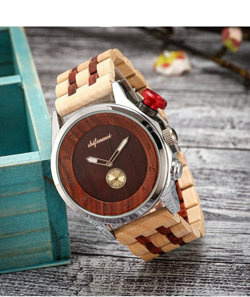 Waterproof Quartz Wooden Watch,Quartz Wristwatches - GiftWorldStyle - Luxury Jewelry and Accessories