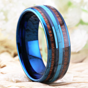 Men's Wooden-Tungsten Carbide Ring - GiftWorldStyle - Luxury Jewelry and Accessories