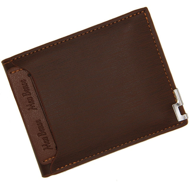 Men's Stitched Leather Card Holder Wallet - GiftWorldStyle - Luxury Jewelry and Accessories