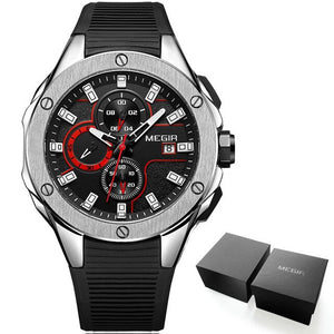 Sport Quartz Watch With Waterproof Chronograph - Auto Date - GiftWorldStyle - Luxury Jewelry and Accessories