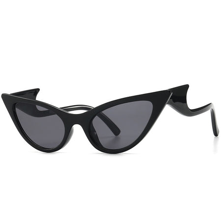 Oversized Cat Eye Sunglasses Women Wave Leg Sun Glasses Female Trend Mirror