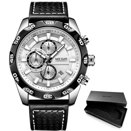 Men's Luminous Watch With 3 Bar Waterproof Leather Strap, Complete Calendar - GiftWorldStyle - Luxury Jewelry and Accessories