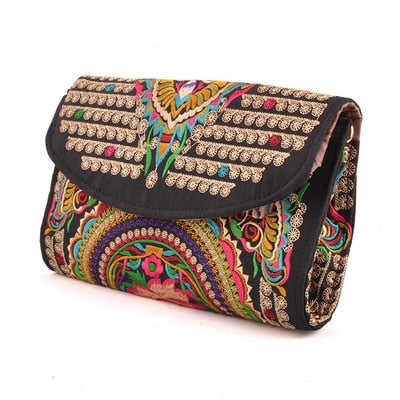 Small Women Bag With Floral Embroidery And Cover - GiftWorldStyle - Luxury Jewelry and Accessories