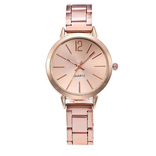 Women's Crystal Stainless Steel Analog Quartz Wrist Watch