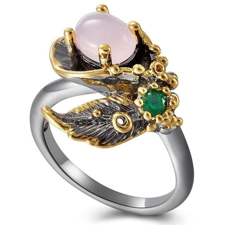 Pink Flower Blossom Finger Ring For Women - GiftWorldStyle - Luxury Jewelry and Accessories