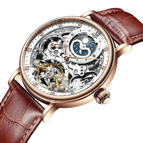 Mechanical Automatic Watch With Multiple Time Zone, Luminous - GiftWorldStyle - Luxury Jewelry and Accessories