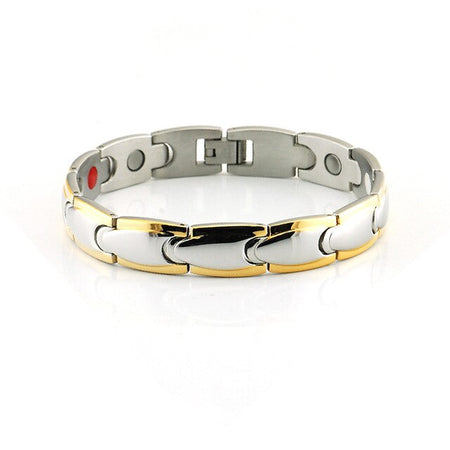 Magnetic Bracelet For Men With Stainless Steel Magnet Ion,Infrared Gold
