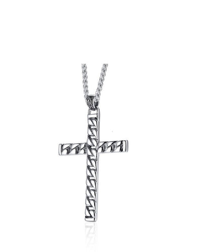 Men's Cross Chain Pendant Necklace
